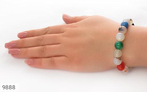 دستبند عقیق درشت و جذاب زنانه - عکس 5