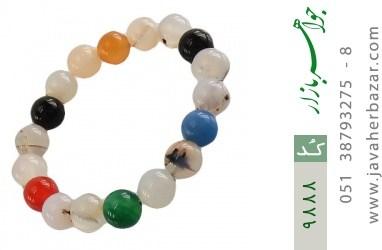 دستبند عقیق درشت و جذاب زنانه - کد 9888