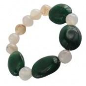 دستبند جید و عقیق درشت و خوش رنگ زنانه