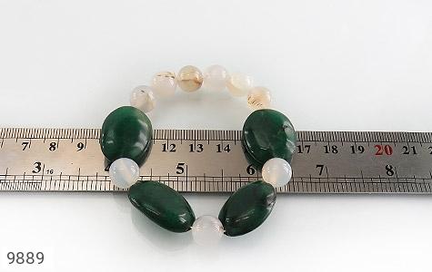 دستبند جید و عقیق درشت و خوش رنگ زنانه - تصویر 4