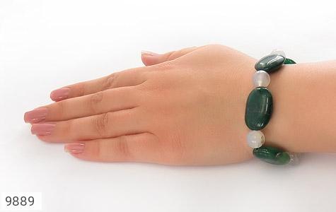 دستبند جید و عقیق درشت و خوش رنگ زنانه - عکس 5