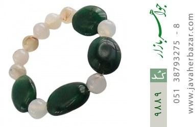 دستبند جید و عقیق درشت و خوش رنگ زنانه - کد 9889