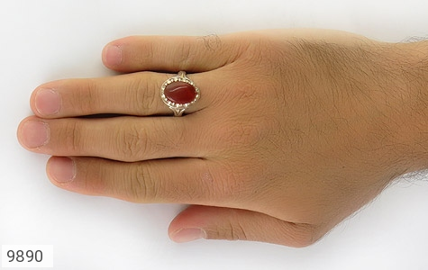 انگشتر عقیق مردانه - عکس 7