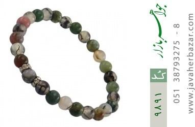 دستبند جاسپر و عقیق شجر زنانه - کد 9891
