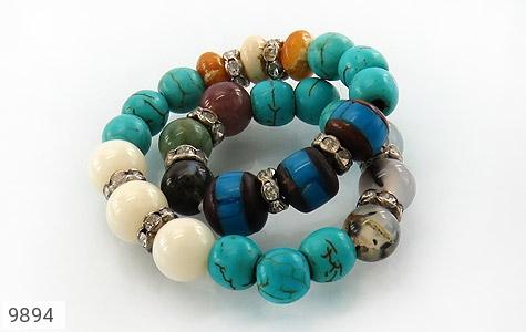 دستبند چندنگین طرح نازگل زنانه - تصویر 2
