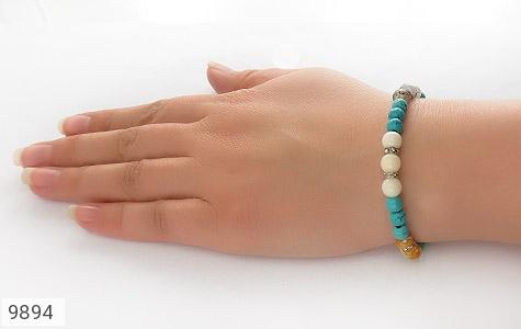 دستبند چندنگین طرح نازگل زنانه - عکس 5