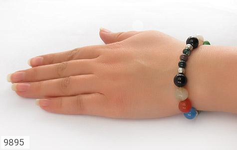 دستبند جاسپر و عقیق درشت زنانه - عکس 5