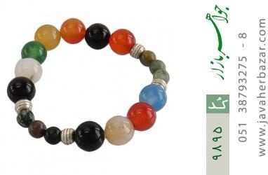 دستبند جاسپر و عقیق درشت زنانه - کد 9895