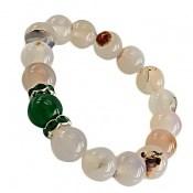 دستبند عقیق درشت طرح گلناز زنانه