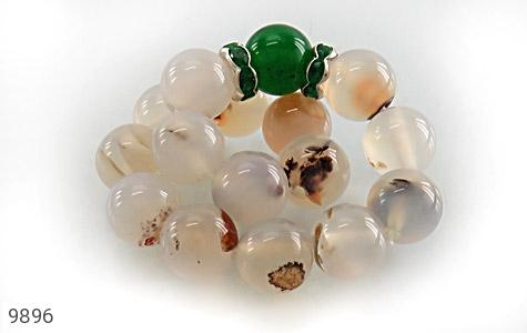 دستبند عقیق درشت طرح گلناز زنانه - تصویر 2