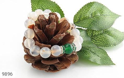 دستبند عقیق درشت طرح گلناز زنانه - عکس 3