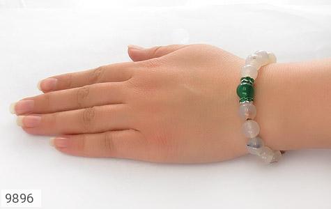 دستبند عقیق درشت طرح گلناز زنانه - عکس 5