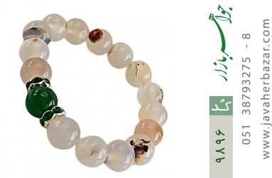 دستبند عقیق درشت طرح گلناز زنانه - کد 9896