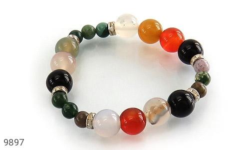 دستبند جاسپر و عقیق خوش رنگ زنانه - عکس 1