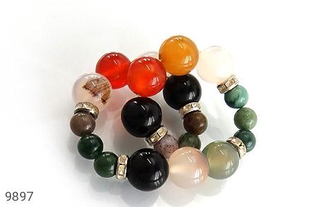 دستبند جاسپر و عقیق خوش رنگ زنانه - تصویر 2