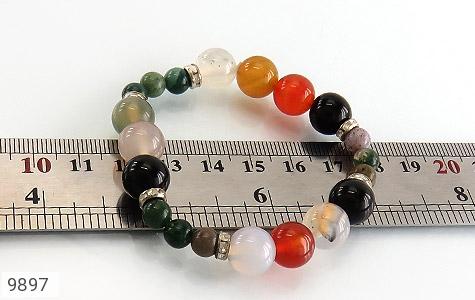دستبند جاسپر و عقیق خوش رنگ زنانه - تصویر 4