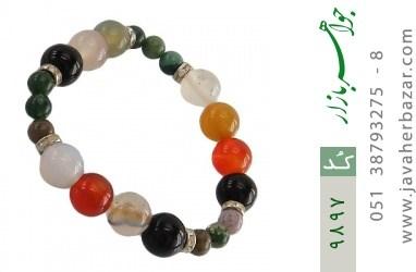 دستبند جاسپر و عقیق خوش رنگ زنانه - کد 9897