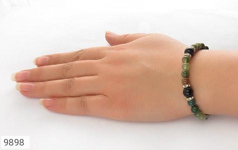 دستبند عقیق و جاسپر و دلربا زنانه - عکس 5