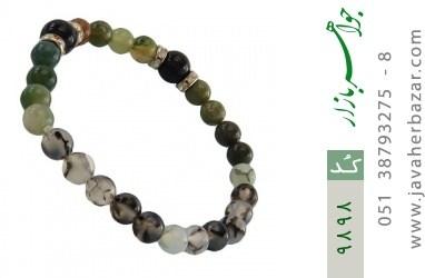 دستبند عقیق و جاسپر و دلربا زنانه - کد 9898