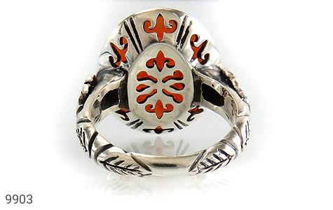 انگشتر عقیق یمن حکاکی یا جواد یا باب المراد استاد حیدر رکاب دست ساز - تصویر 4