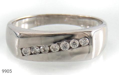 حلقه ازدواج نقره آب رودیوم سفید - تصویر 2