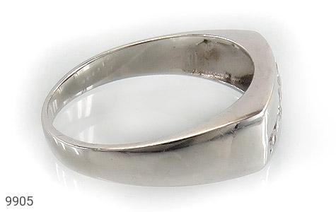 حلقه ازدواج نقره آب رودیوم سفید - عکس 3