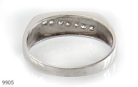 حلقه ازدواج نقره آب رودیوم سفید - تصویر 4