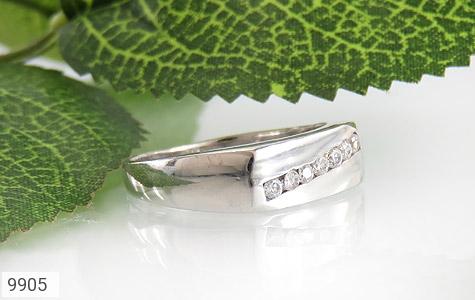 حلقه ازدواج نقره آب رودیوم سفید - عکس 5