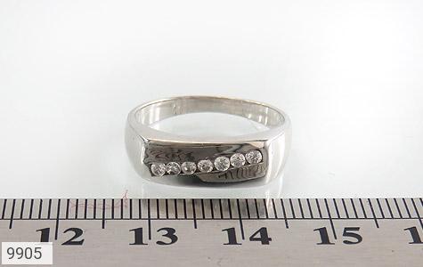 حلقه ازدواج نقره آب رودیوم سفید - تصویر 6