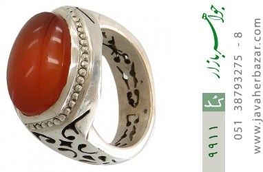 انگشتر عقیق یمن رکاب دست ساز - کد 9911