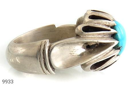 انگشتر فیروزه نیشابوری هنر دست استاد شمعدانی - عکس 3