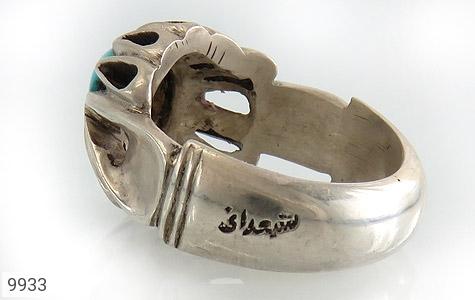 انگشتر فیروزه نیشابوری هنر دست استاد شمعدانی - تصویر 4