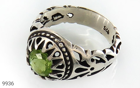 انگشتر زبرجد خوش رنگ مرغوب مردانه - عکس 1