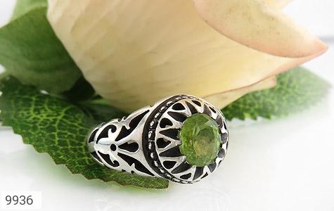 انگشتر زبرجد خوش رنگ مرغوب مردانه - عکس 5