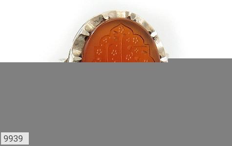 انگشتر عقیق یمن حکاکی احب الله من احب حسینا استاد حیدر رکاب دست ساز - تصویر 2