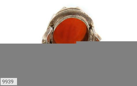 انگشتر عقیق یمن حکاکی احب الله من احب حسینا استاد حیدر رکاب دست ساز - عکس 5