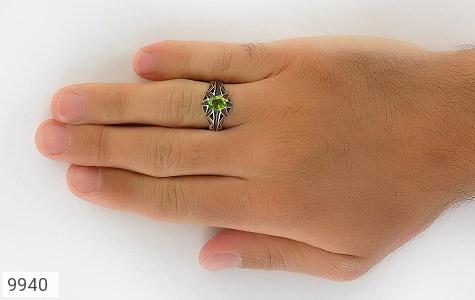انگشتر زبرجد خوش رنگ مردانه - تصویر 8