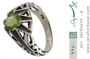 انگشتر زبرجد خوش رنگ مردانه - کد 9940
