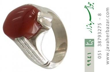 انگشتر عقیق یمن حکاکی شرف الشمس رکاب دست ساز - کد 9941