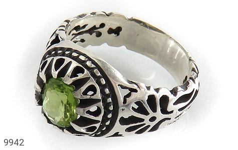 انگشتر زبرجد طرح اشرفی مردانه - عکس 1