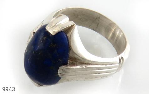 انگشتر لاجورد رکاب دست ساز - عکس 1
