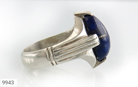 انگشتر لاجورد رکاب دست ساز - عکس 3