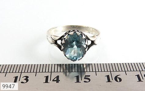 انگشتر توپاز آبی طرح اسپرت - تصویر 6