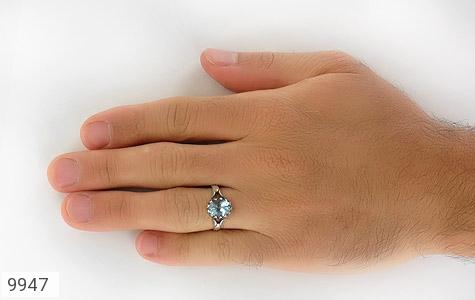 انگشتر توپاز آبی طرح اسپرت - عکس 7