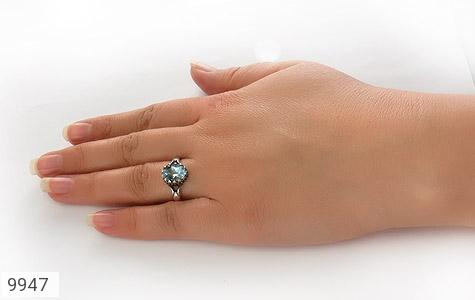 انگشتر توپاز آبی طرح اسپرت - تصویر 8