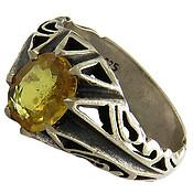 انگشتر یاقوت زرد خوش رنگ مرغوب مردانه