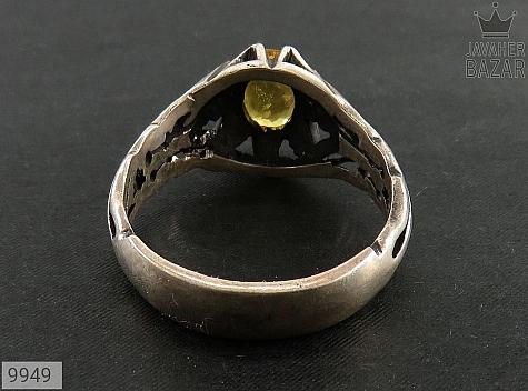 انگشتر یاقوت زرد خوش رنگ مرغوب مردانه - عکس 3