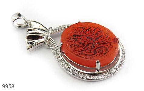 مدال عقیق حکاکی شرف الشمس السلام علی صدیقة الکبری - عکس 1