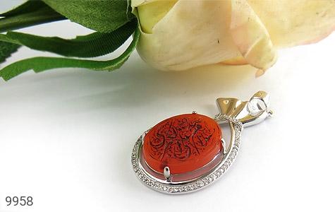 مدال عقیق حکاکی شرف الشمس السلام علی صدیقة الکبری - تصویر 4