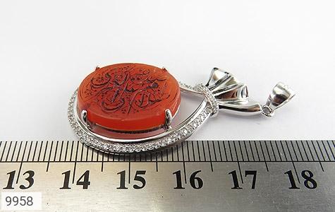 مدال عقیق حکاکی شرف الشمس السلام علی صدیقة الکبری - عکس 5